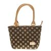 Aliado Faux Leather Solid Beige & Black Zipper Closure Handbag for Women
