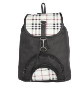 Aliado Faux Leather Black  Coloured Backback