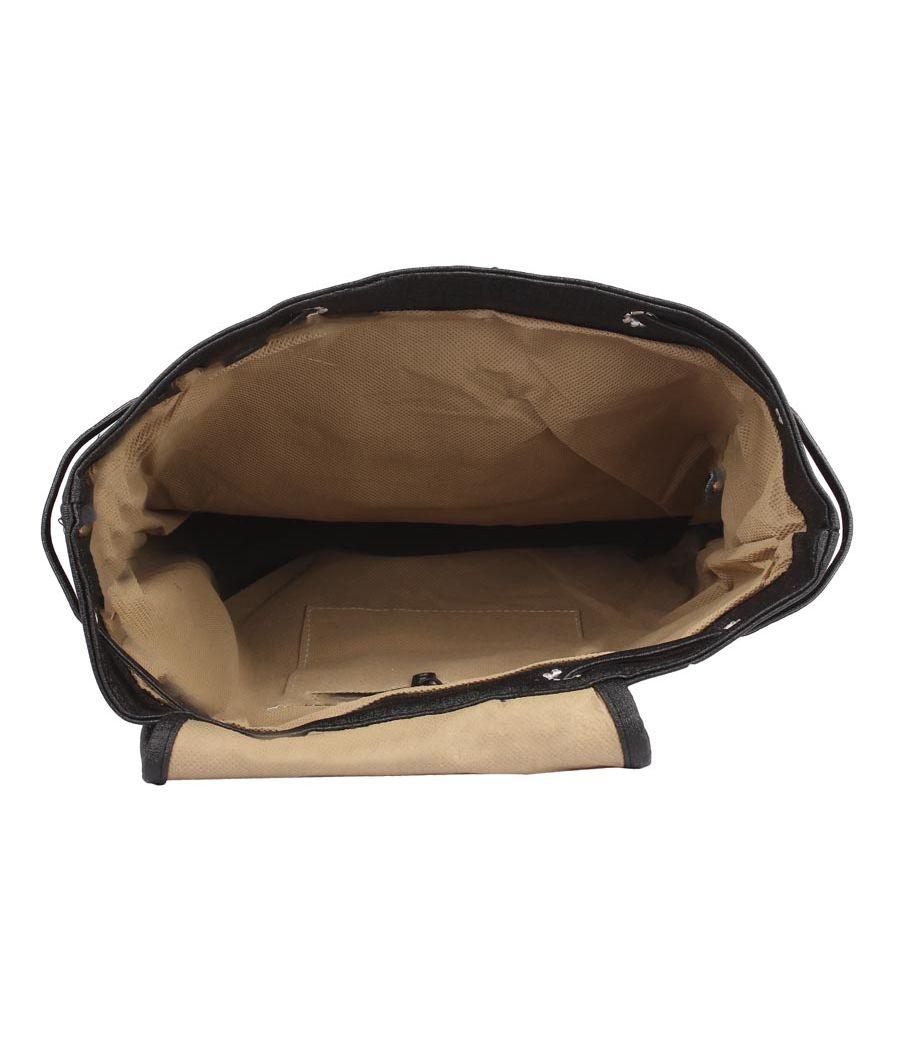 Aliado Faux Leather Black  Coloured Backback