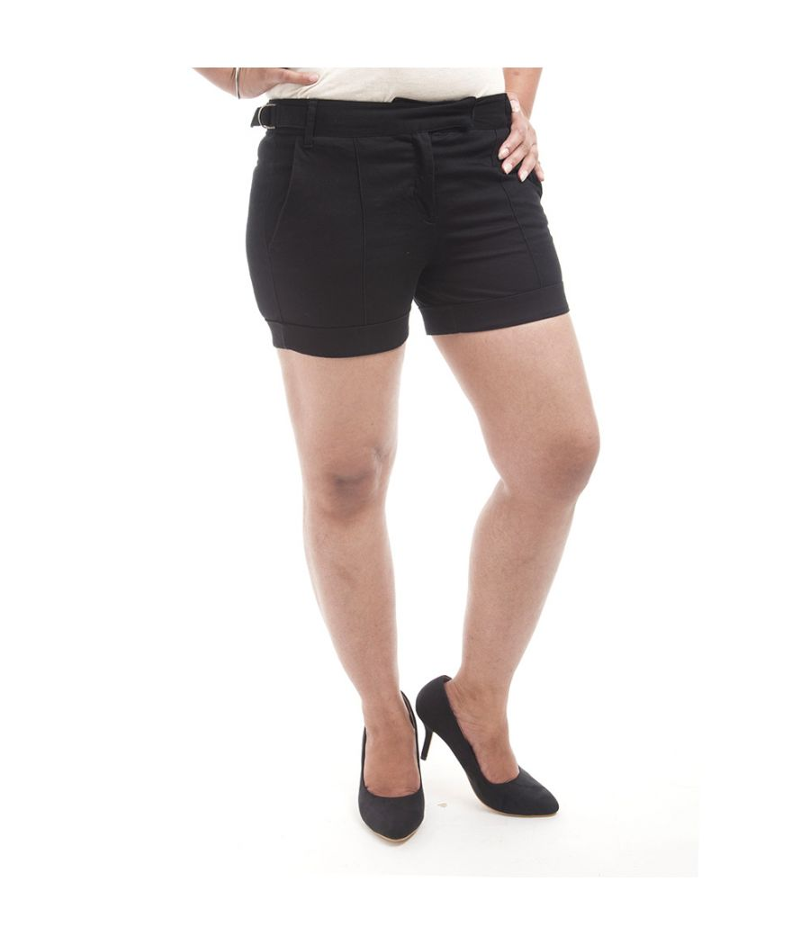 G2000 Polyester Solid Navy Blue Straight Wrap Mini Casual Skirt