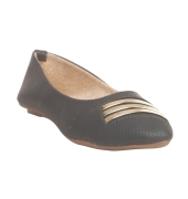 MCS Synthetic Leather Navy Blue Broad Toe Casual Flats for Women