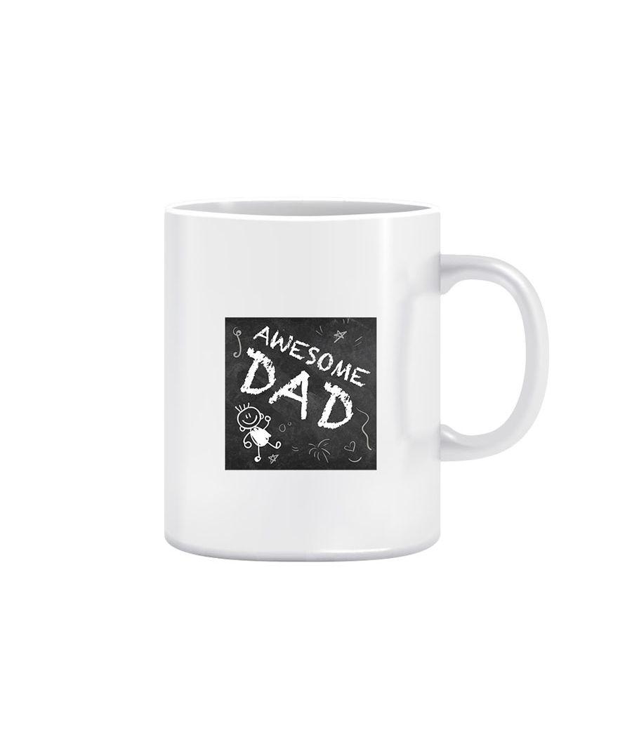 Joy N Fun -        Awesome DAD- Printed Coffee Mug, 320ml, White