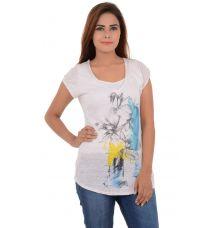 Zara Viscose Floral Print White Top