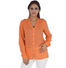 Vero Moda Polyester Full Sleeves Button Closure Casual Shirt