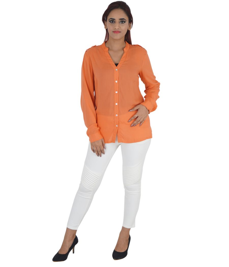 Vero Moda Polyester Full Sleeves Button Closure Casual Shirt