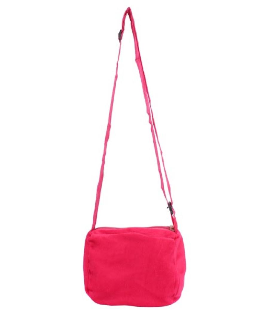 Envie Faux Fur Pink   and   Blue Coloured Zipper Closure Sling Bag