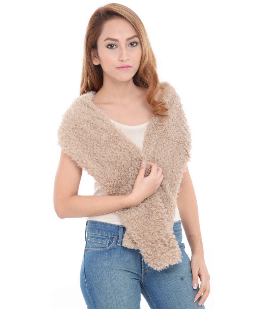 Estance Faux Fur Light Brown Stole/Scarf