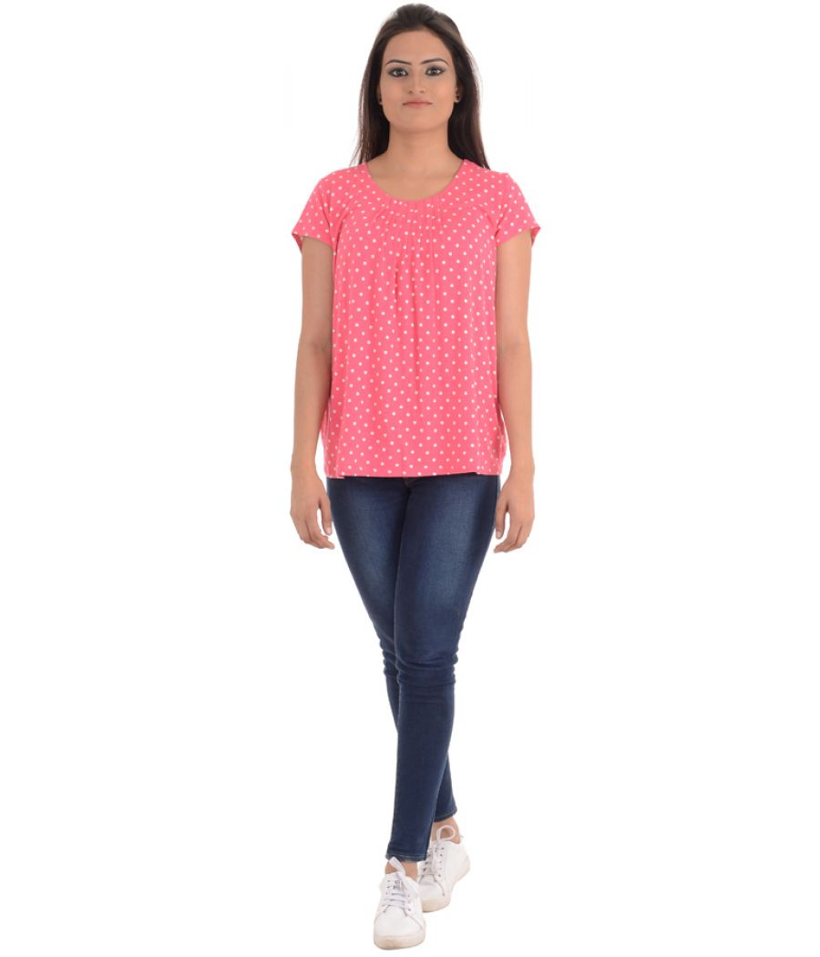 Marks and Spencer Hosiery Printed Pink and White Top