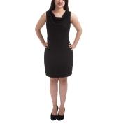 Van Heusen Stretch Knit Solid Cowl Neck Midi Length Formal Shift Dress