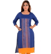 W Cotton Graphic Print Yellow/Blue Kurti