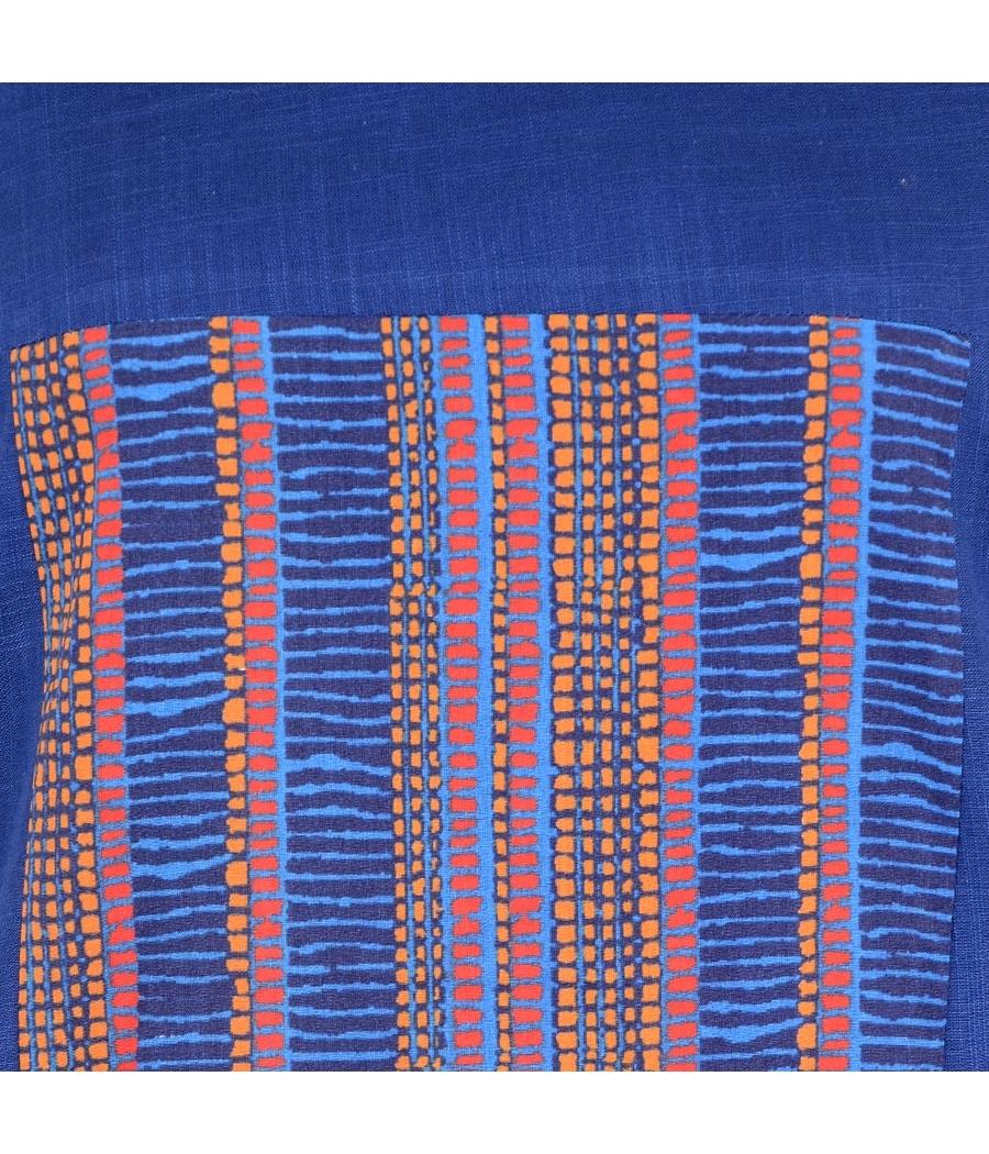 W Cotton Graphic Print Yellow/Blue Kurti