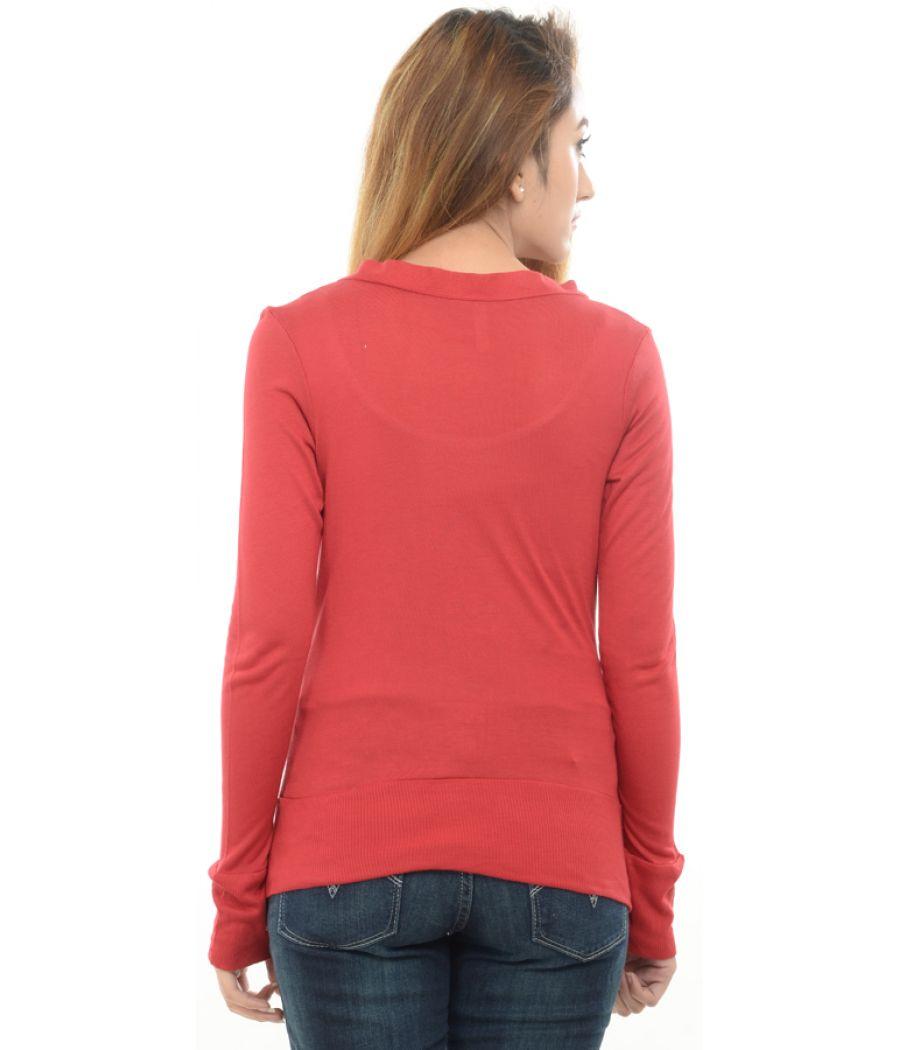 Estance Viscose Solid Red Shrug