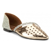 Estatos Synthetic Leather Flat Comfortable Golden  Bellies