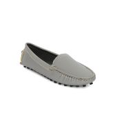 Estatos Broad Toe Grey Comfortable Flat Slip On Loafers for Women