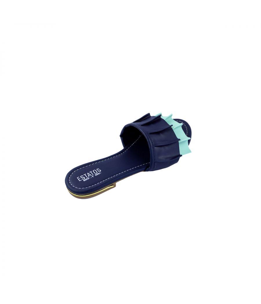 Estatos synthetic Leather Open Toe Single Strap Flats