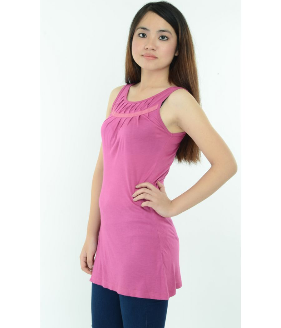 Ginger Pink Pleated Top
