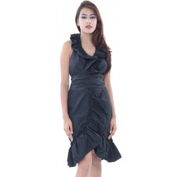 Eva Franco Scrambled Black Dress