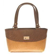 Aliado Faux Leather Solid Coffee Brown & Brown Zipper Closure Tote Bag for Women