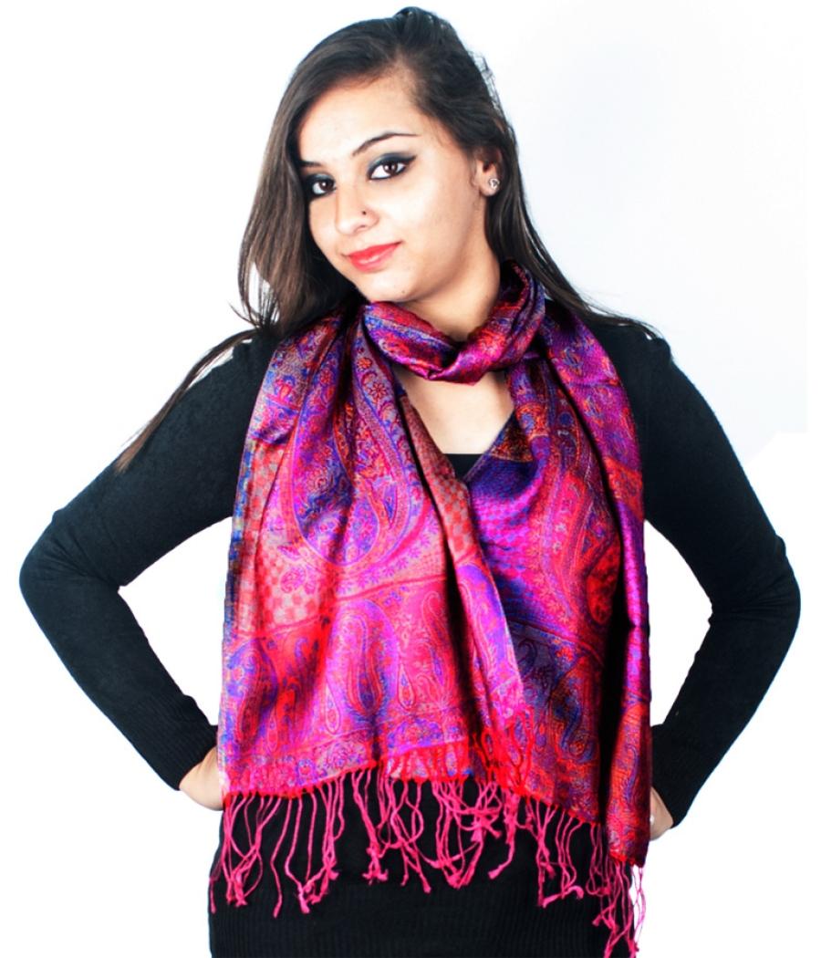 Violet Modal Silk Muffler