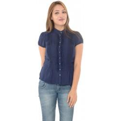 Zara Basic Navy Blue Blouse