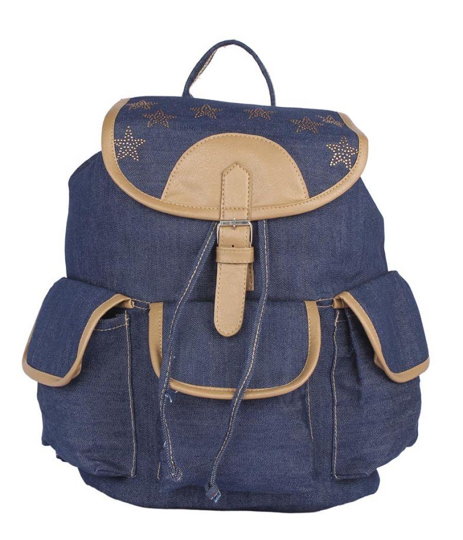 Aliado Cloth Fabric Navy Blue Colour Solid Backpack