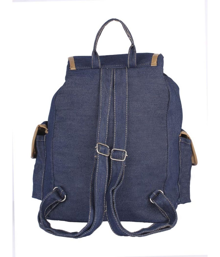 Aliado Cloth Fabric Navy Blue Colour Solid Backpack