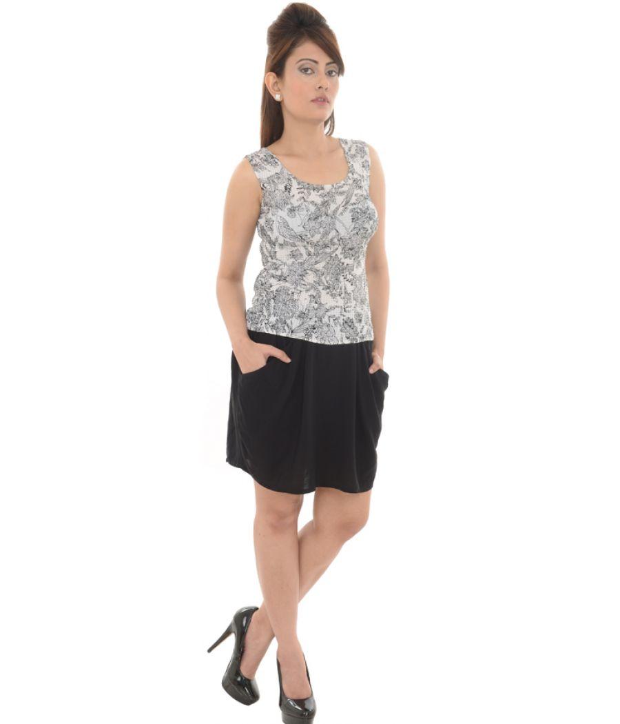 H&M Viscose Plain Mini Black Shorts