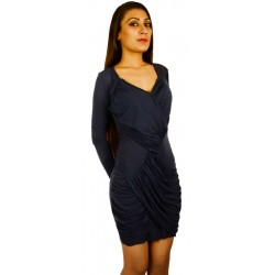 Asos Blue Ruched Front Bodycon Dress