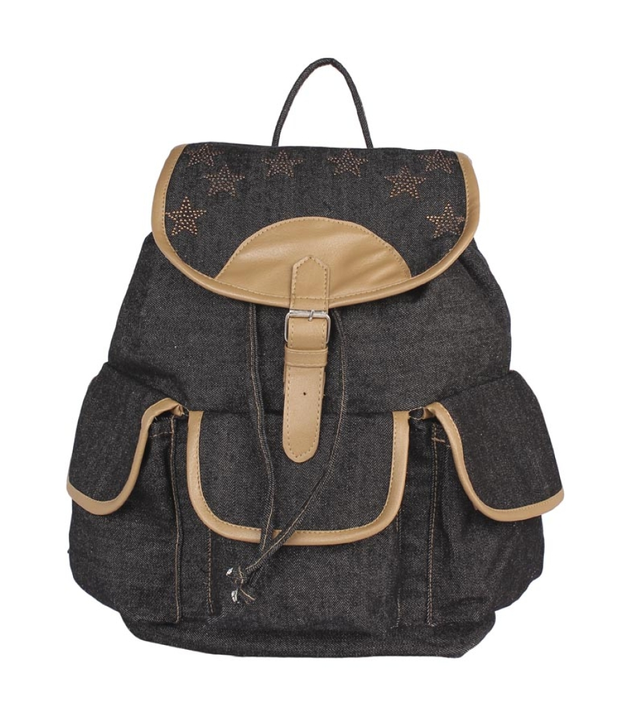 Aliado Cloth Fabric Black Colour Solid  Backpack