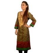 Green Vegetable Print Kurta