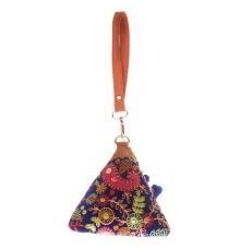Envie Cloth/Textile/Fabric Blue & Multi Embroidered Potli Bag