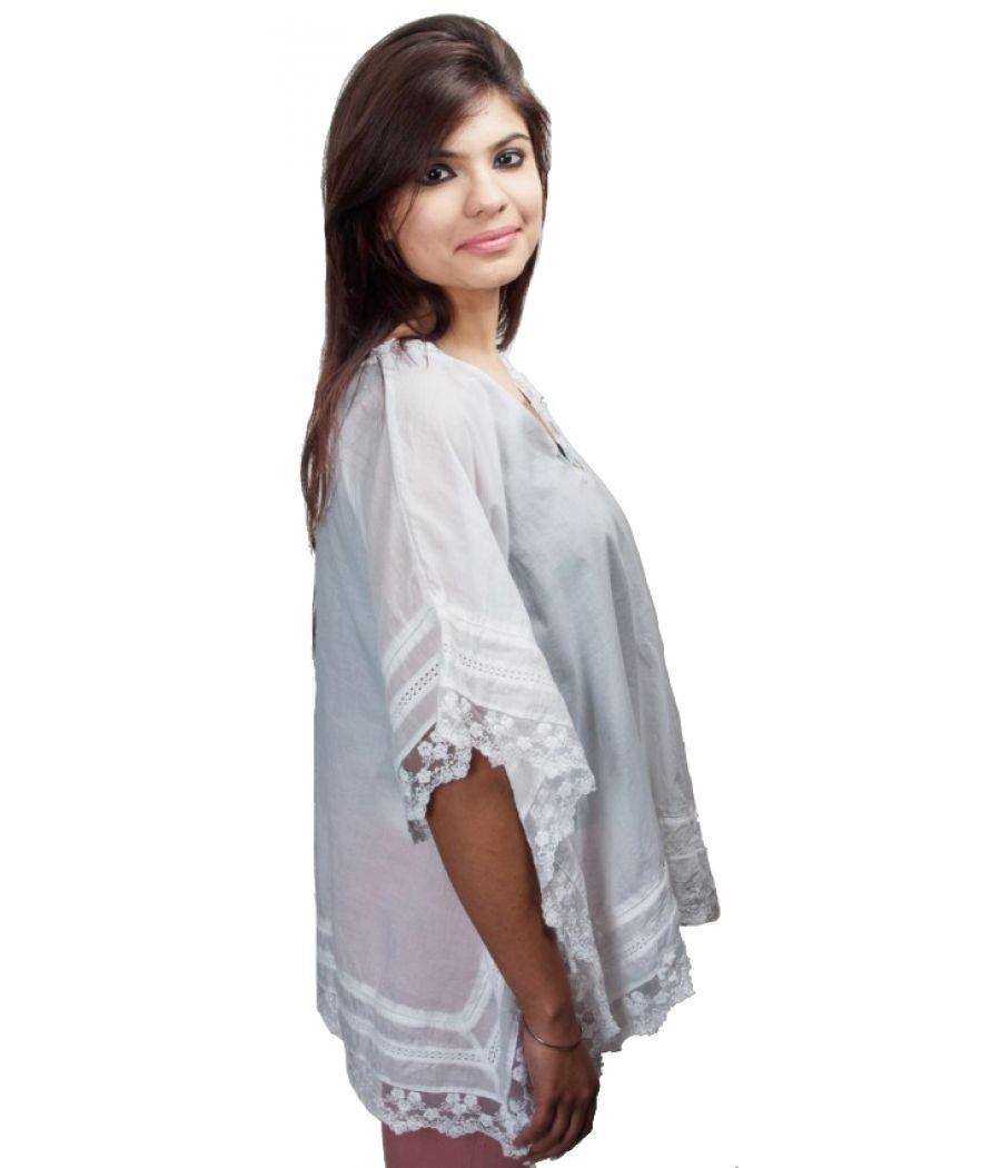 Zara White Khaftan Top