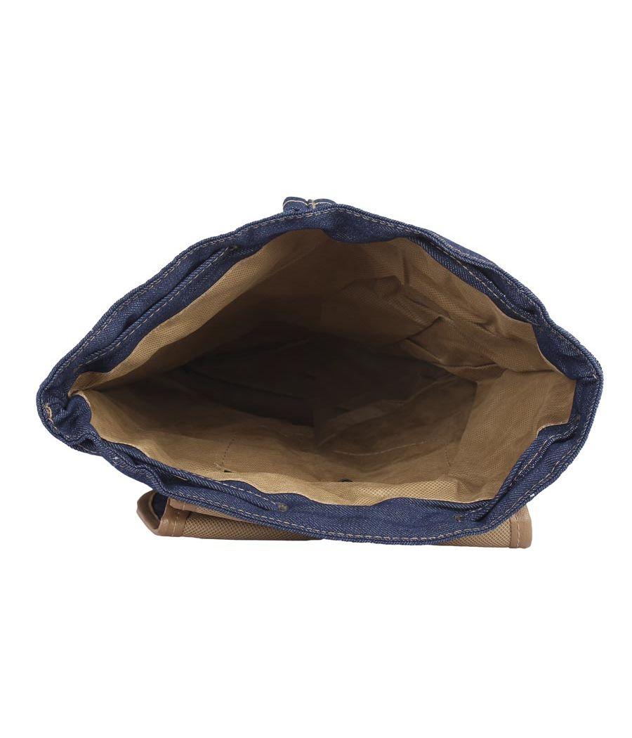 Aliado  Cloth Fabric Navy Blue Solid Backpack