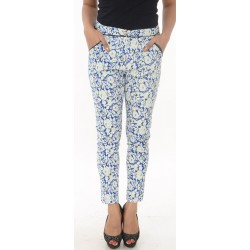 Boohoo Blue Printed Cigarette Trousers
