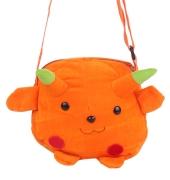 Envie Faux Fur Orange  Coloured Zipper Closure Sling Bag