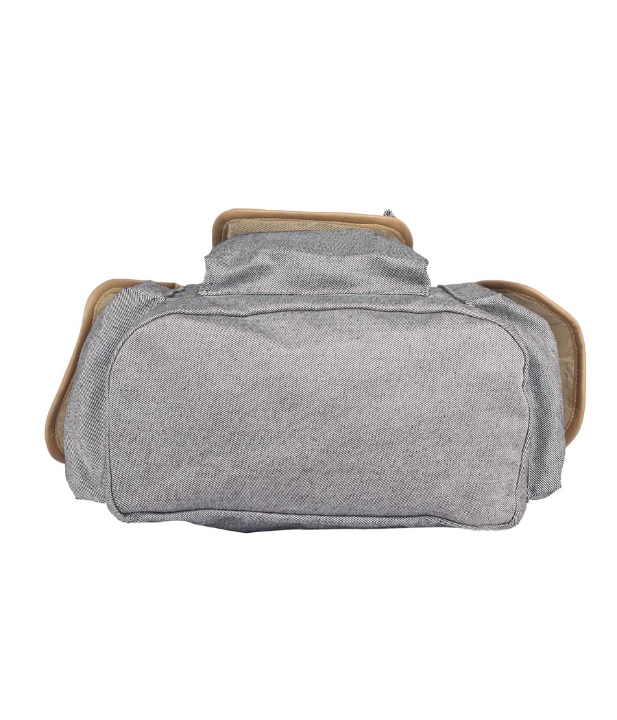 Aliado Cloth Fabric Grey and Navy Blue Solid  Backpack