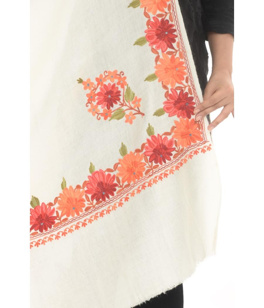 White/Multi Floral Magic Shawl