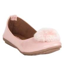 MCS Synthetic Leather Pink Coloured Embellished Belly Shoes for Women