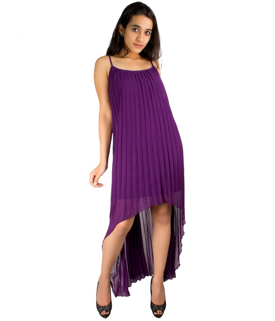 Rare London Purple Hi-Low Dress
