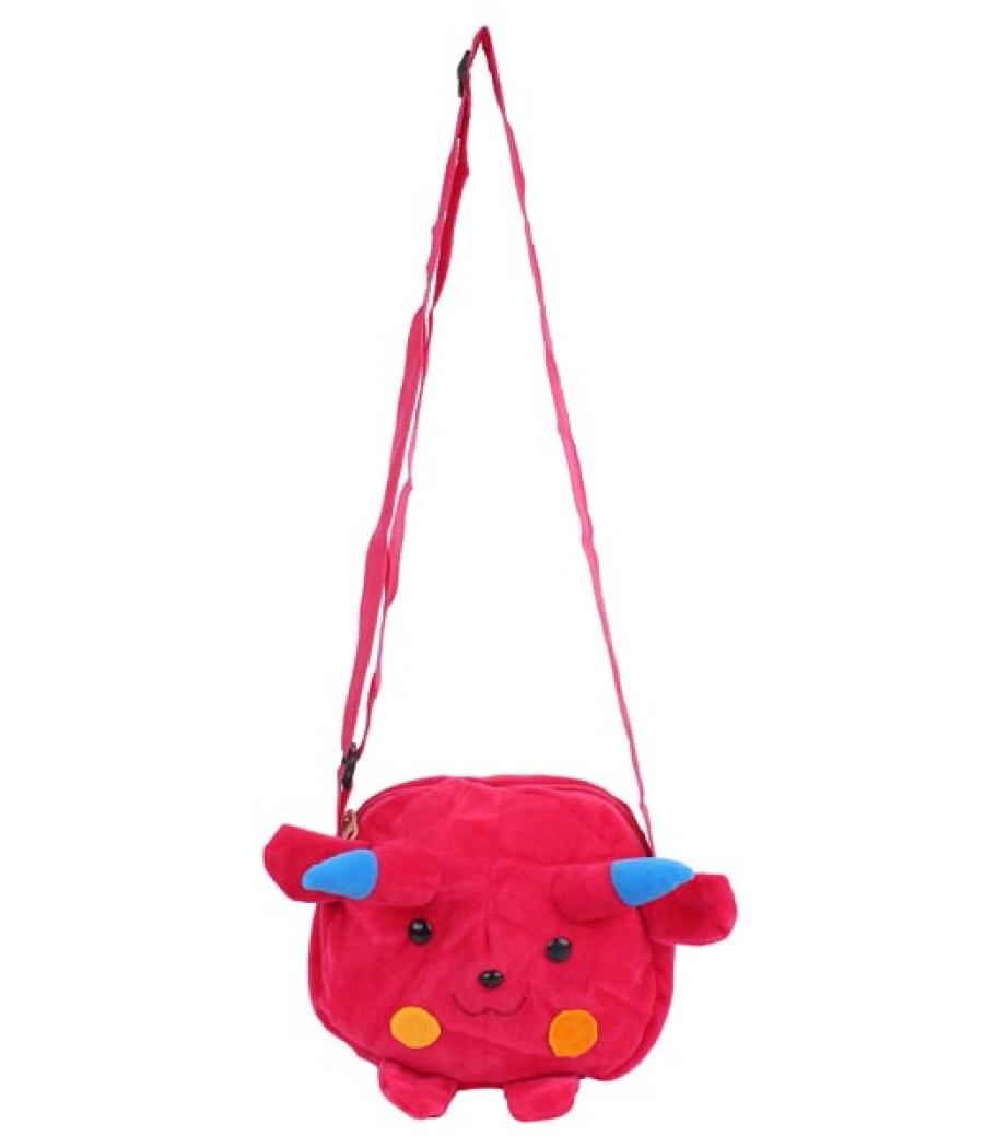 Envie Faux Fur  Pink  Coloured Zipper Closure Sling Bag