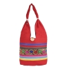 Aliado Cloth Fabric Red  Coloured Zipper Closure  Handbag