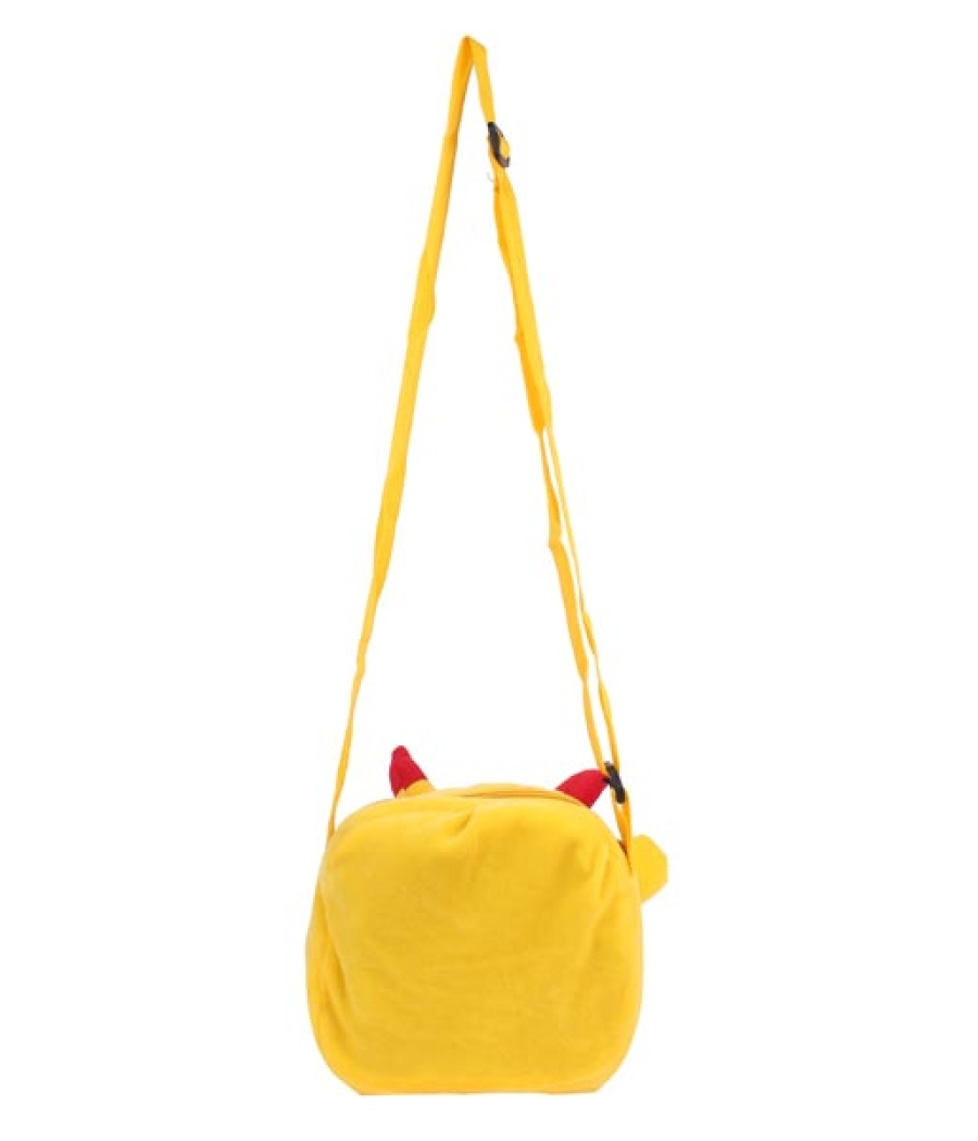 Envie Faux Fur Yellow  Coloured Zipper Closure Sling Bag
