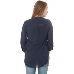 Dorothy Perkins Navy Blue Polyester Top