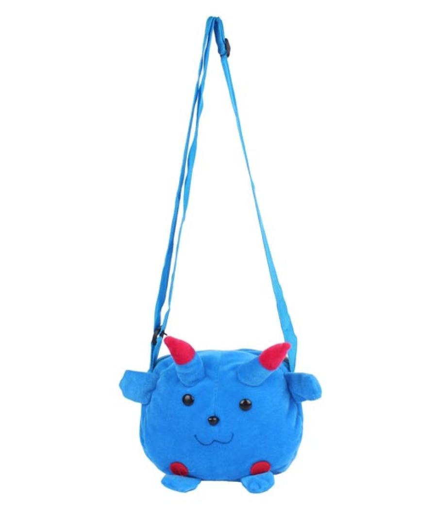 Envie Faux Fur Blue  Coloured Zipper Closure Sling Bag