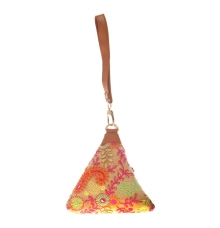 Envie Cloth/Textile/Fabric Embroidered Beige & Multi Potli Bag