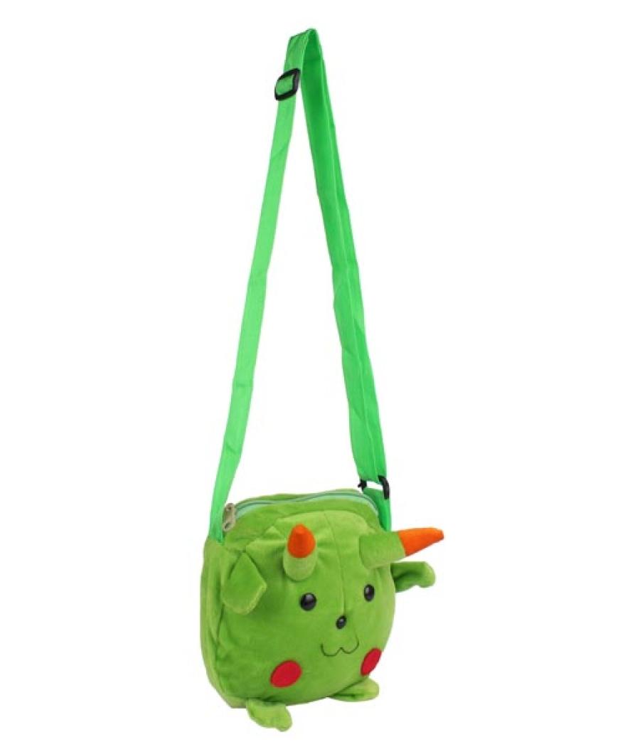 Envie Faux Fur Green  Coloured Zipper Closure Sling Bag