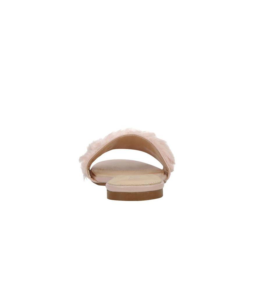 Estatos Leather Pink Single Strap Open Toe Flats