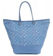 Aliado Denim designer patchwork Blue Handbag