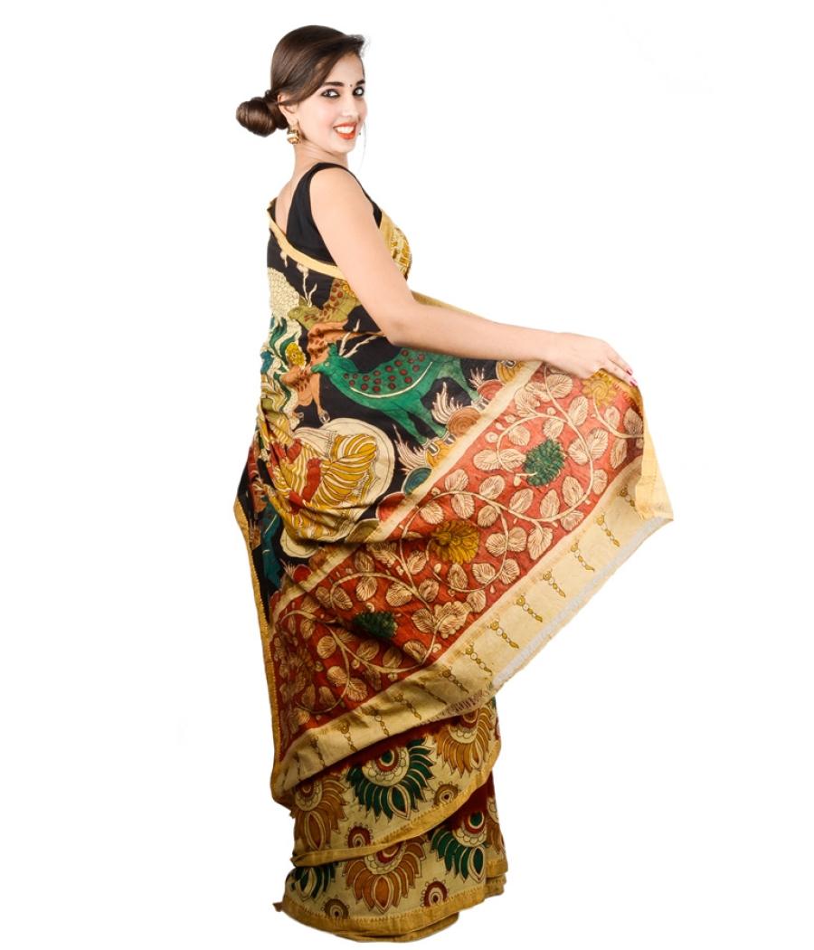 Kalamkari Manglagiri Cotton Saree