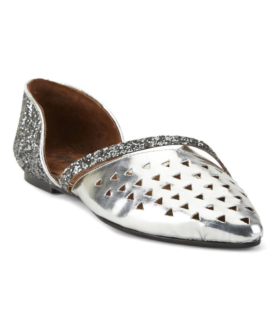 Estatos Synthetic Leather Flat Comfortable Silver Bellies